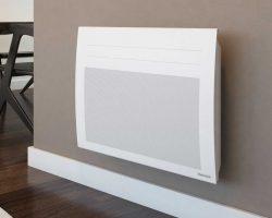 Un chauffage électrique de la marque Thermor installé sur un mur