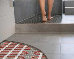 Photo pour présenter le chauffage au sol, ici pour une salle de bain